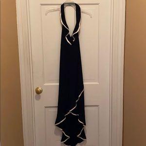 Black ruffle detail dress